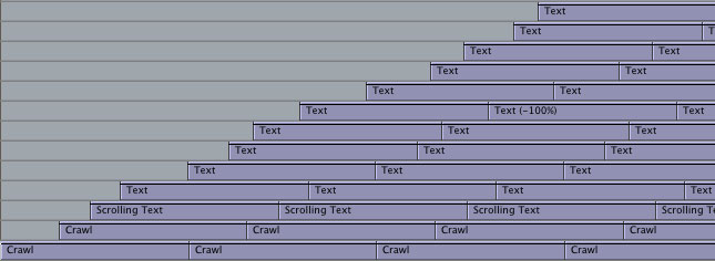 screen shot of text timeline