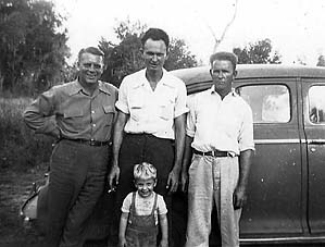 uncle fred, dad, uncle dave, and me